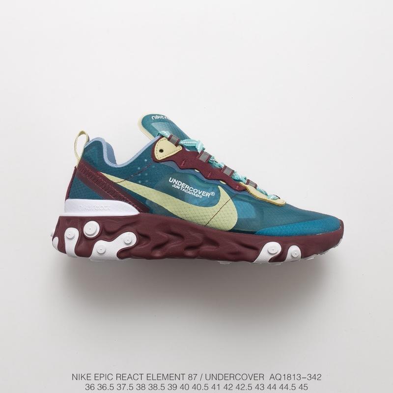UNDERCOVER x Nike Upcoming React Element 87反应元素半透明系列前卫慢跑鞋。 货号:AQ1813-342 cdca75aa703c
