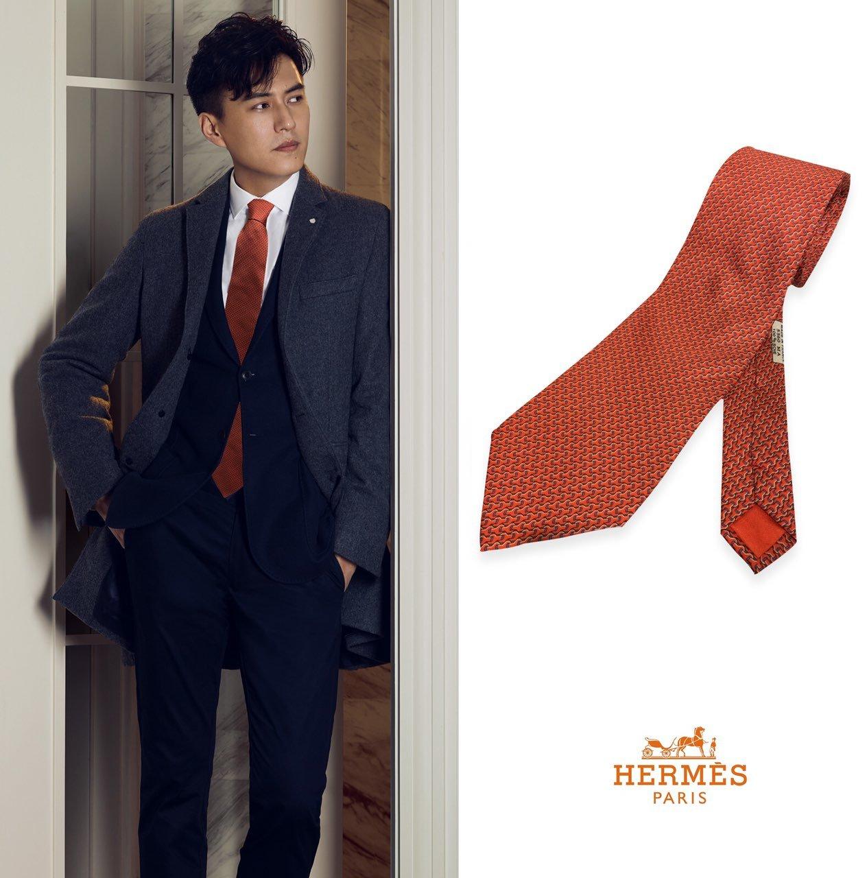 上新爱马仕2019男士新款领带系列H