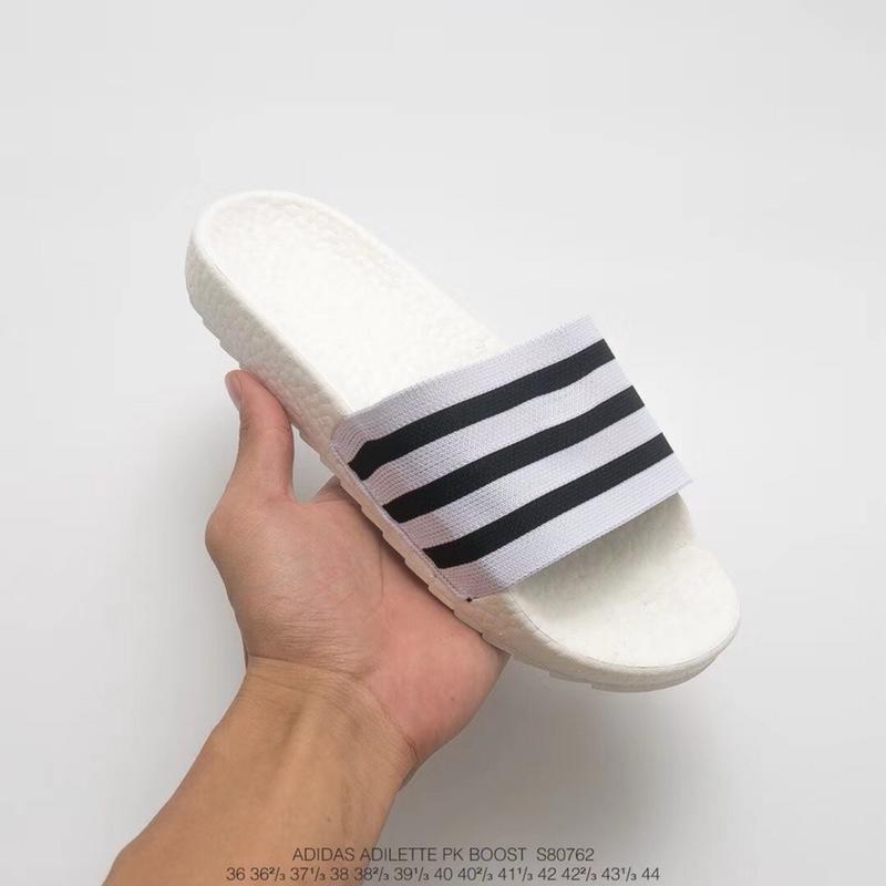 真标真爆! 三叶草adidas Originals Adilette sandal Primeknit BOOST 爆 ... c254319ec