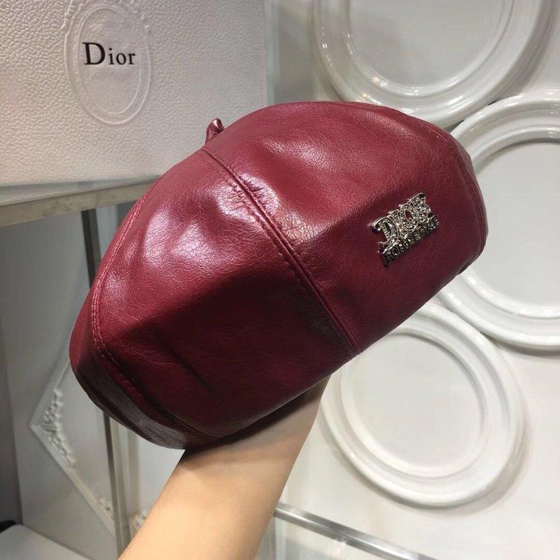 Dior迪奥代购级别洗水羊皮贝蕾帽南