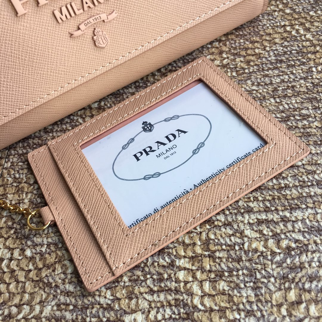prdad独家首发2018年早春新款女士钱包 lMH132十字纹牛皮(图4)