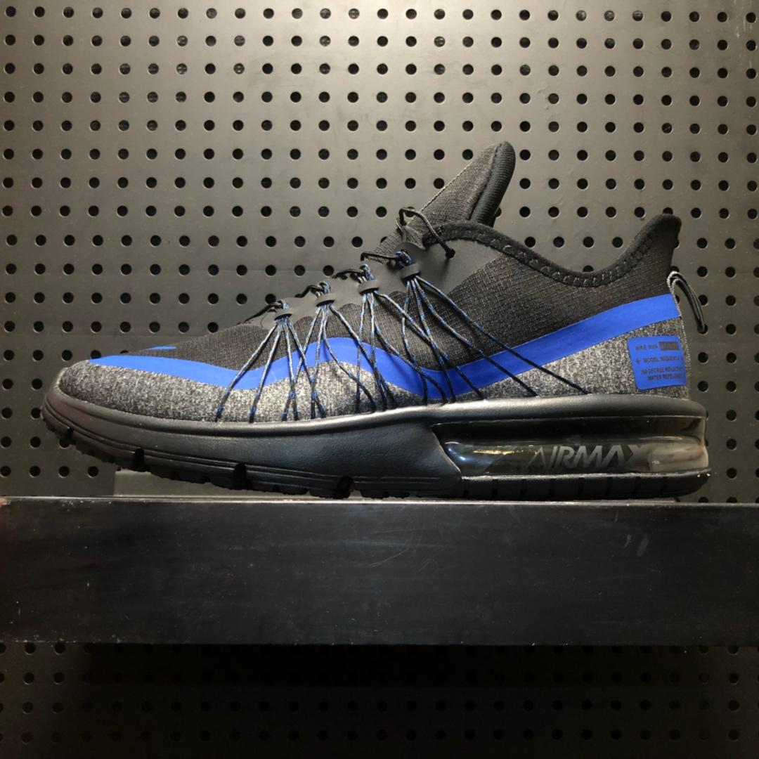 Nike Air Max Sequent 4 Utility Black Racing Blue Light Grey