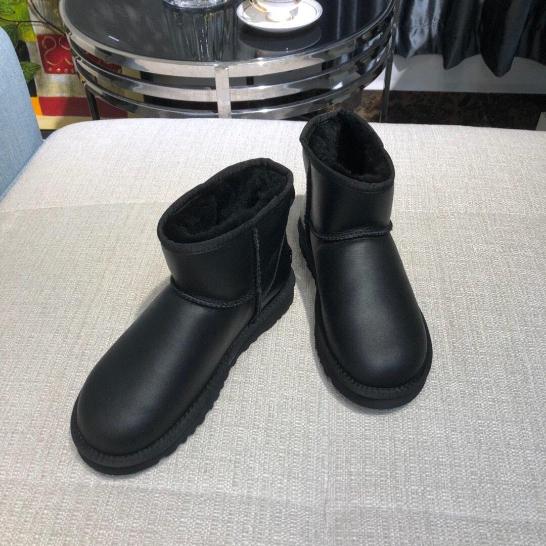 UGG女士金属皮雪地靴原厂代工正品品