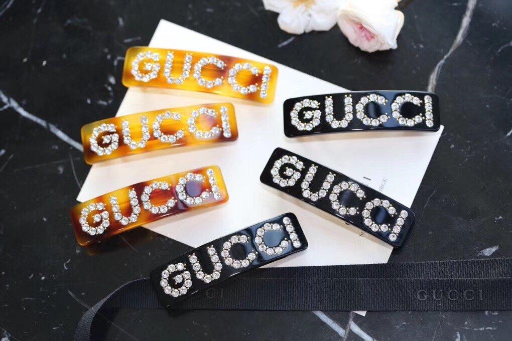 Gucci发夹美G家水钻发夹!超级实