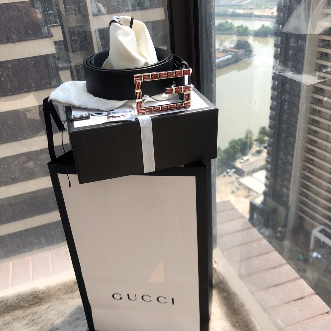 Gucci 顶级品质 2020年 春季新款 正品开版  斯华洛钻腰带(图8)