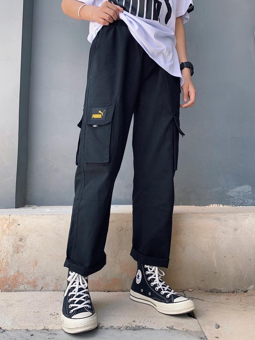 75【PUMA工装裤】 Puma复古金标宽松多口袋直筒裤 定制金标 整