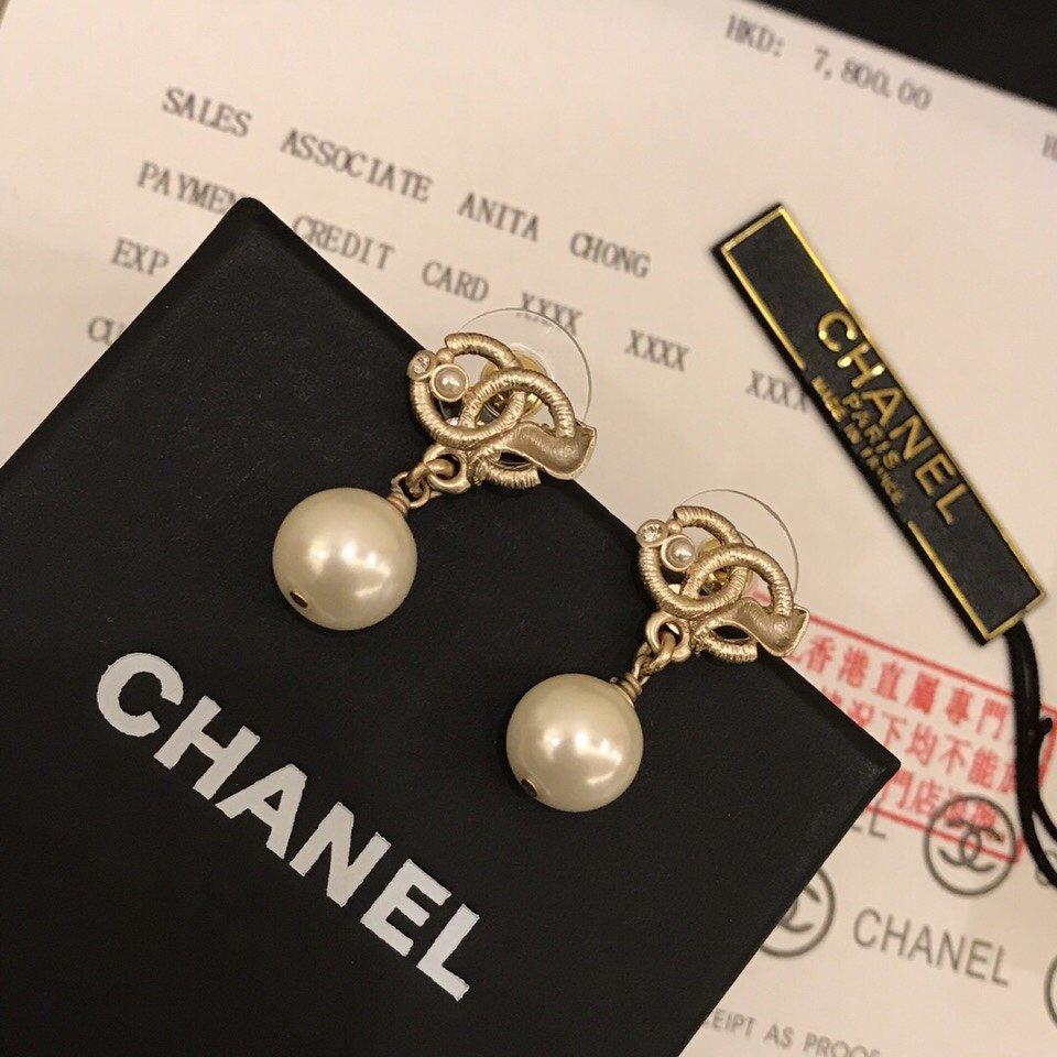 Chanel香奈儿最新款耳钉925纯