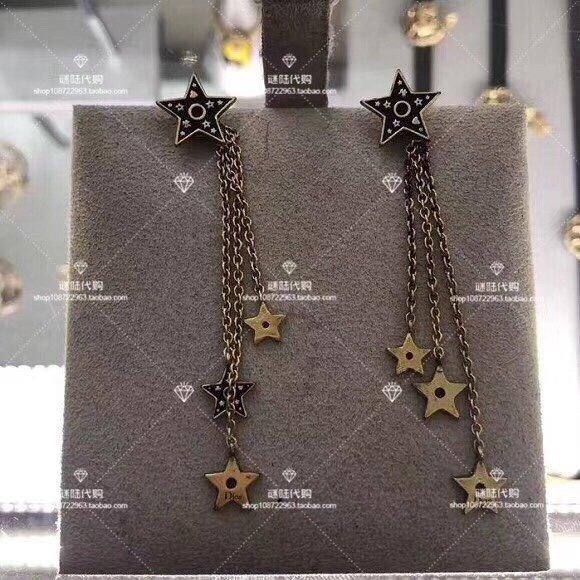 最新Dior迪奥复古风流苏金属字母五