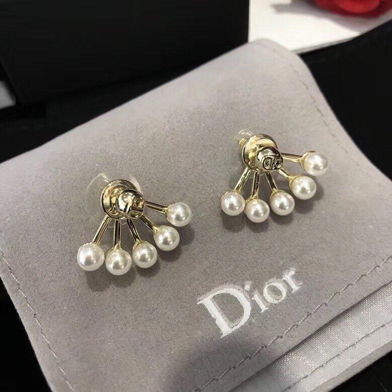 DIOR迪奥CD耳钉专柜一致黄铜材质