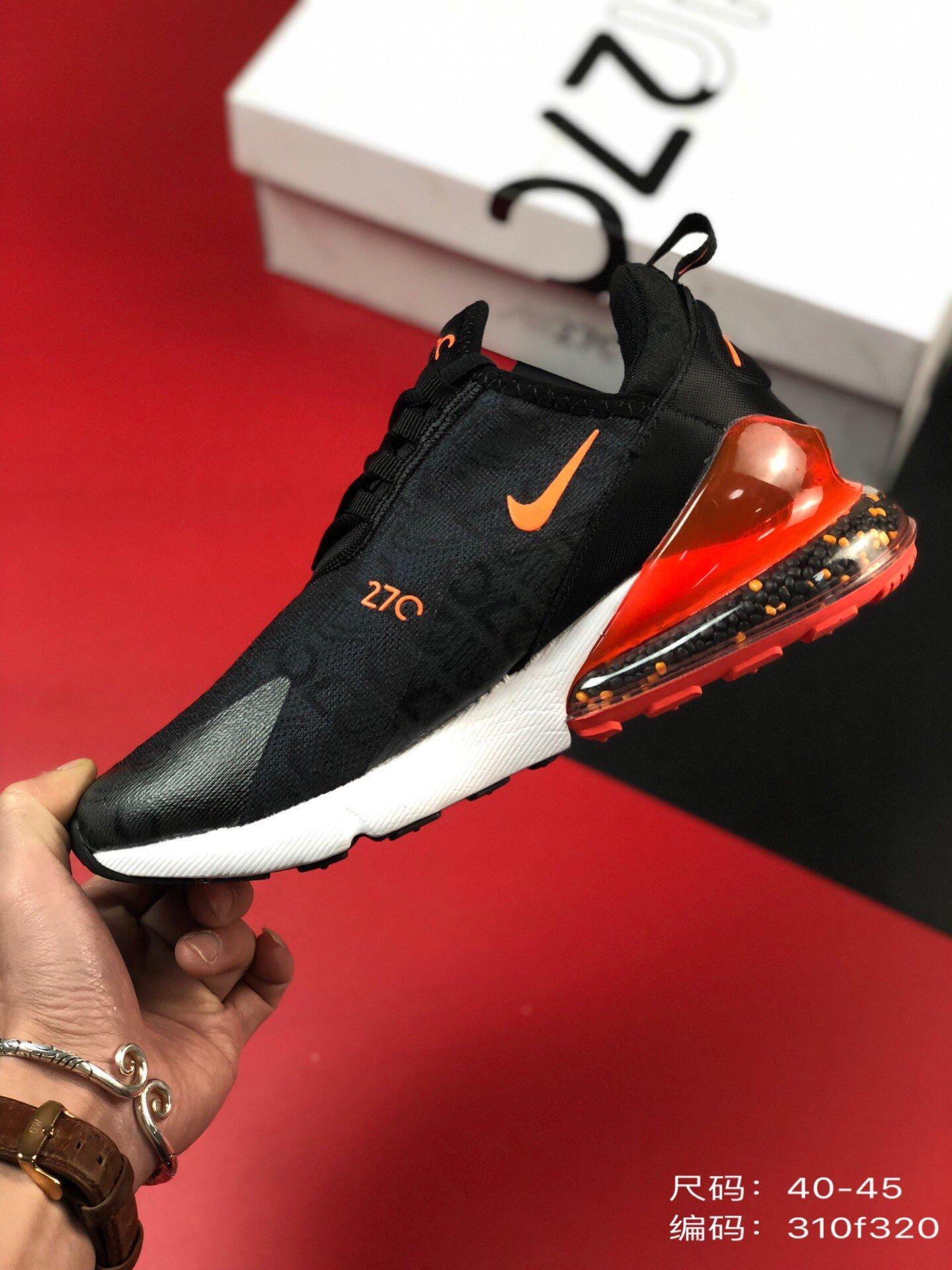 💰230尺码:40-45品牌:耐克 Nike 简介:Nike Air Max 270 2019官方同步新品 高频字母透视织布 后置真气垫跑步鞋编码: 310f320