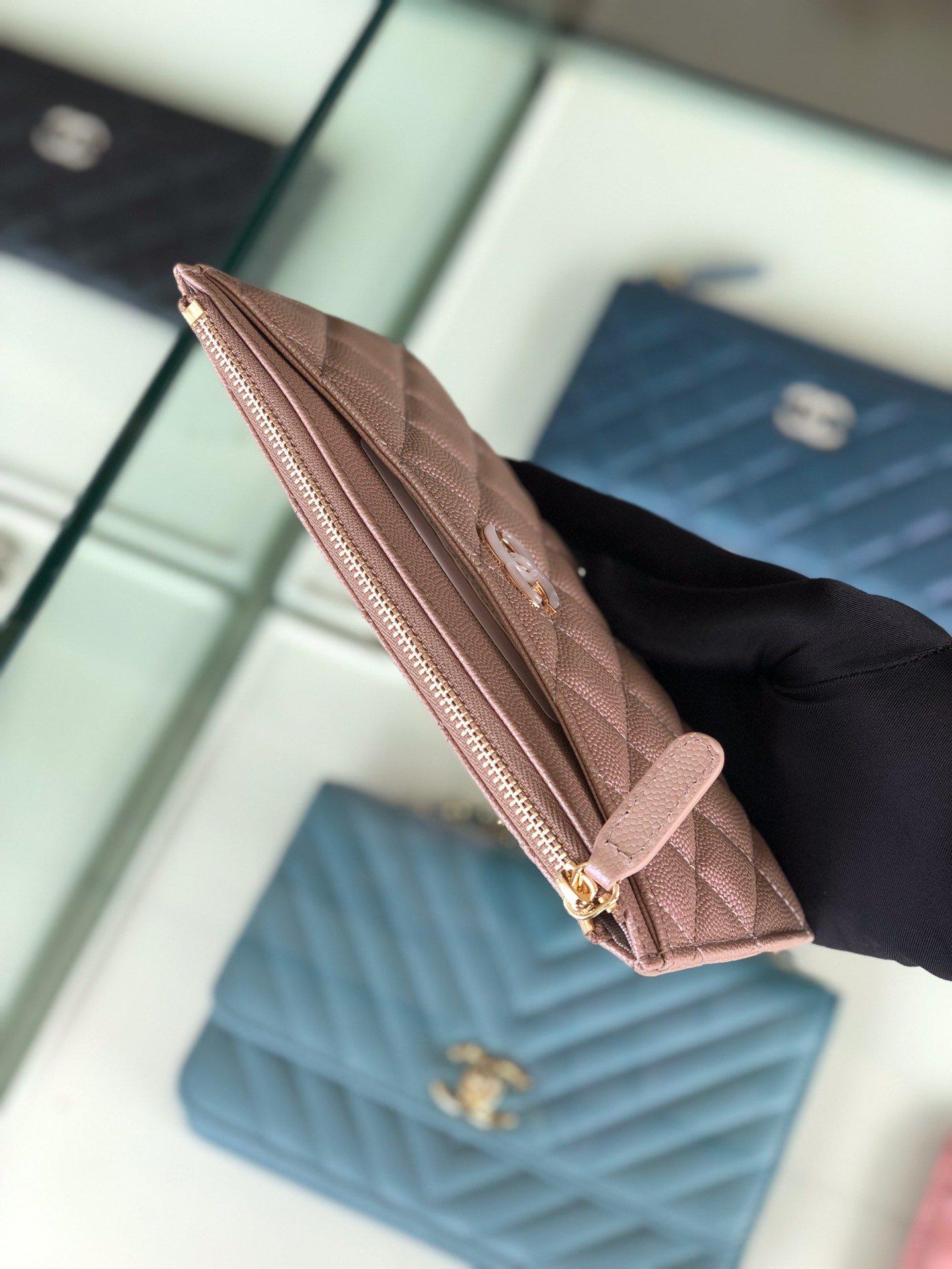 Chanel 2019最新款幻彩颗粒压花牛皮革零钱包卡包钥匙包(图3)