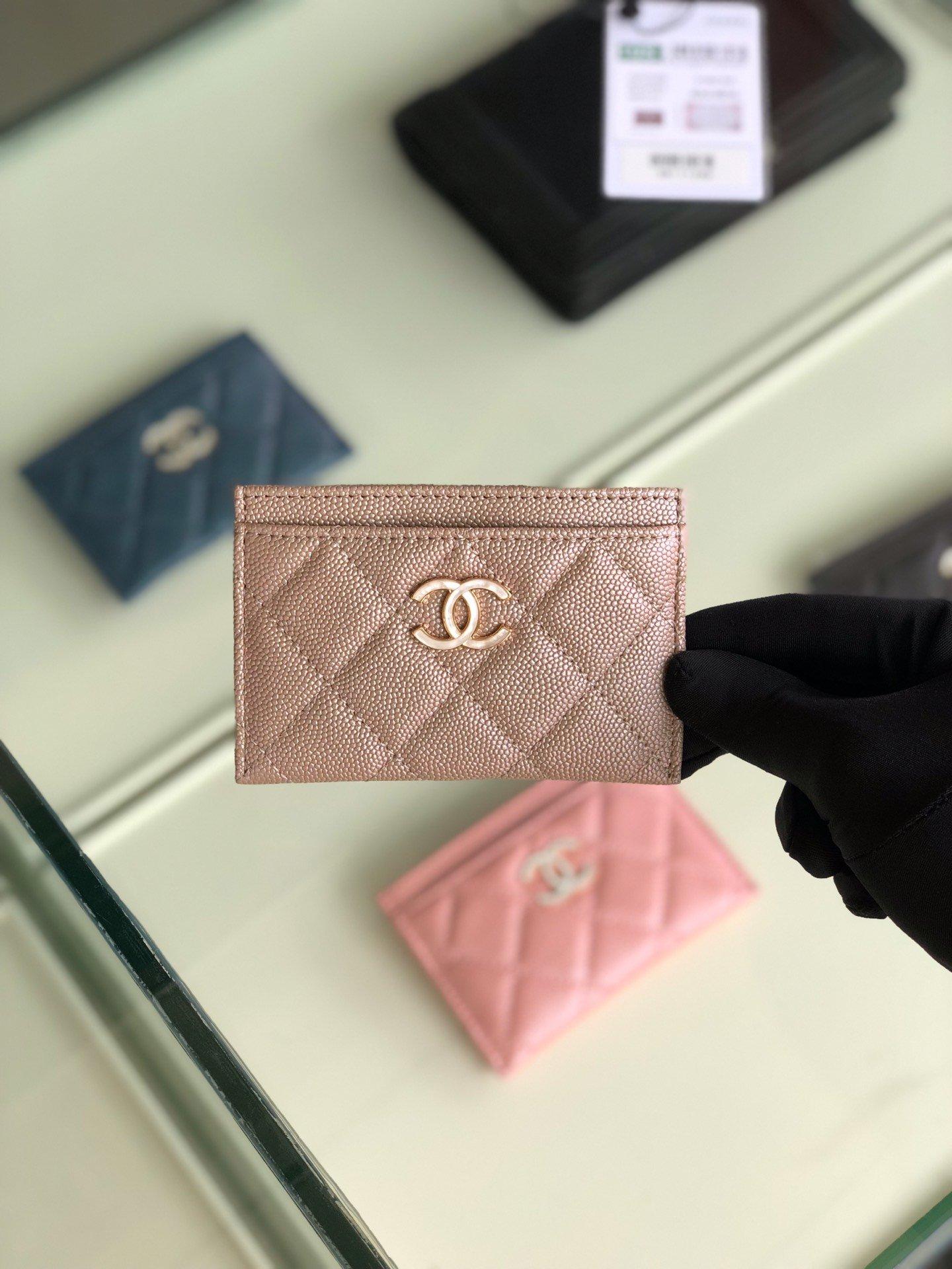 Chanel 2019最新款幻彩颗粒压花牛皮革零钱包卡包钥匙包(图8)