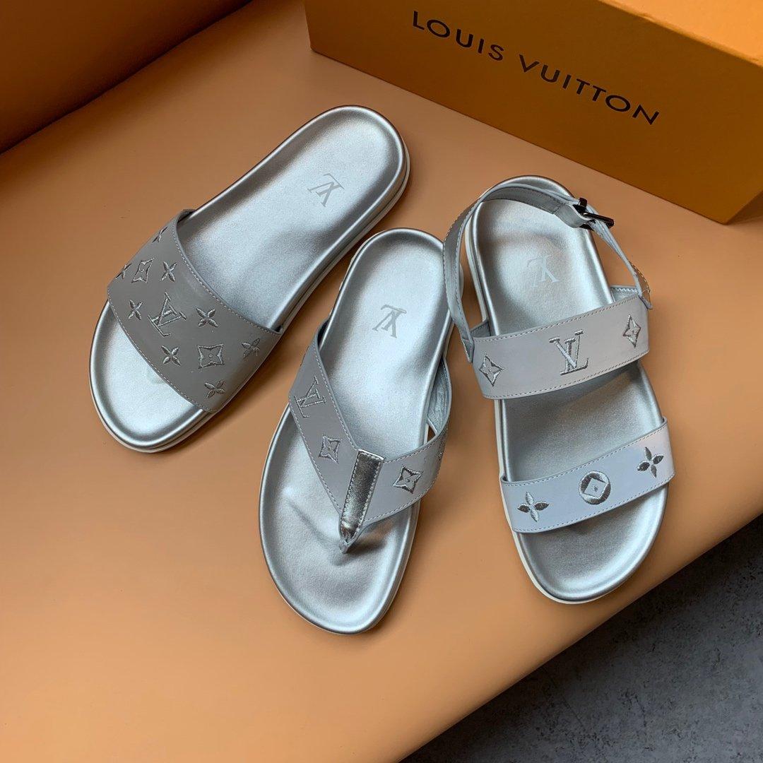 LV--高端男士拖鞋Size38-4