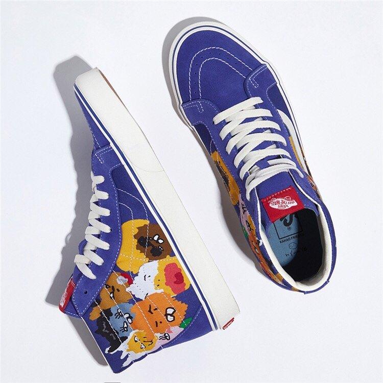 🌈240   新款出货VANS X Kakao Friends X Hyunye三方联名男女涂鸦休闲情侣滑板鞋型号:CR-57  高帮SIZE:35-44  带半码