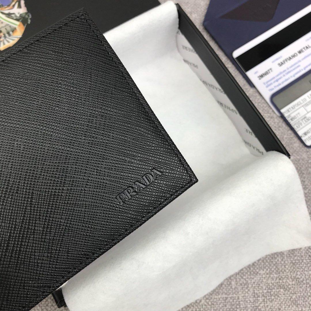 原单代购级PRADA男士金属钱夹专柜最新款式 官网同步(图4)