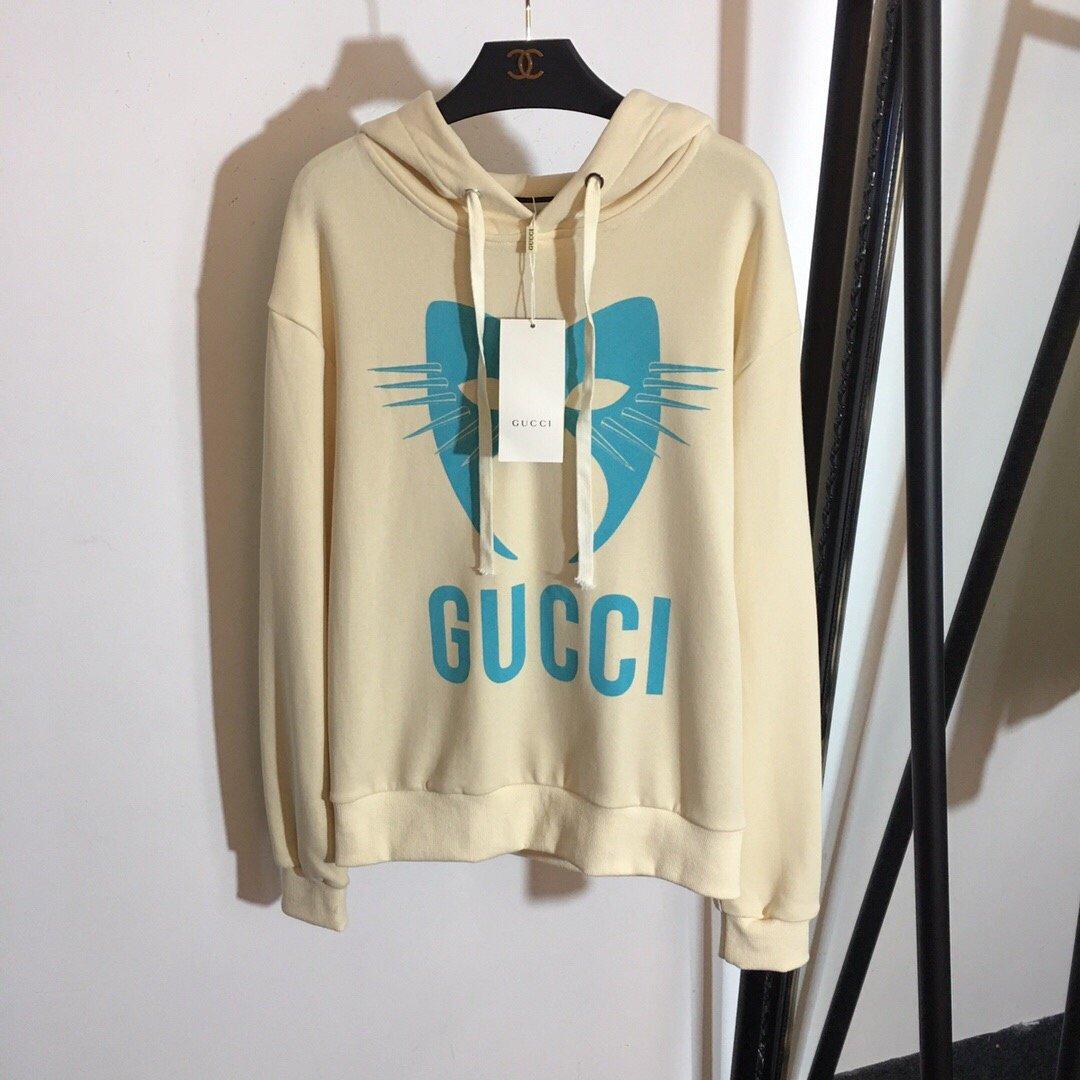 Gucci新款猫咪头字母印花时尚百搭