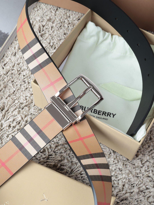 巴宝莉Burberry休闲款原单质量,新款男士腰带专柜同步新款(图3)