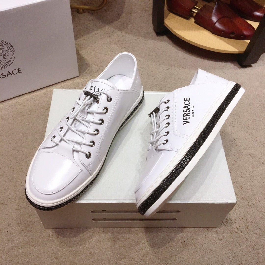羊里范思哲顶级男士单鞋2019专柜同