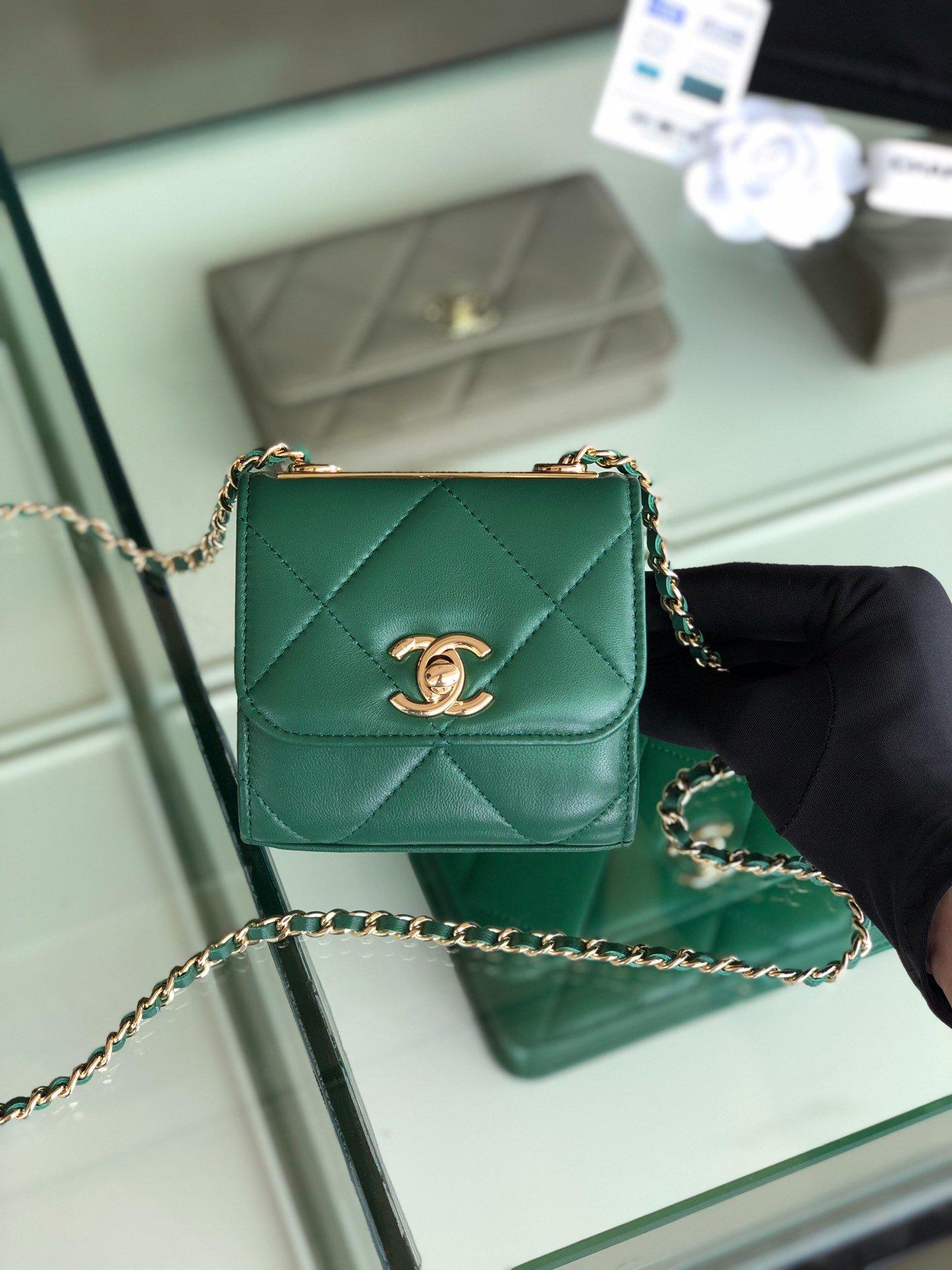 Chanel香奈儿专柜同款 大方格新款零钱包 单肩斜挎