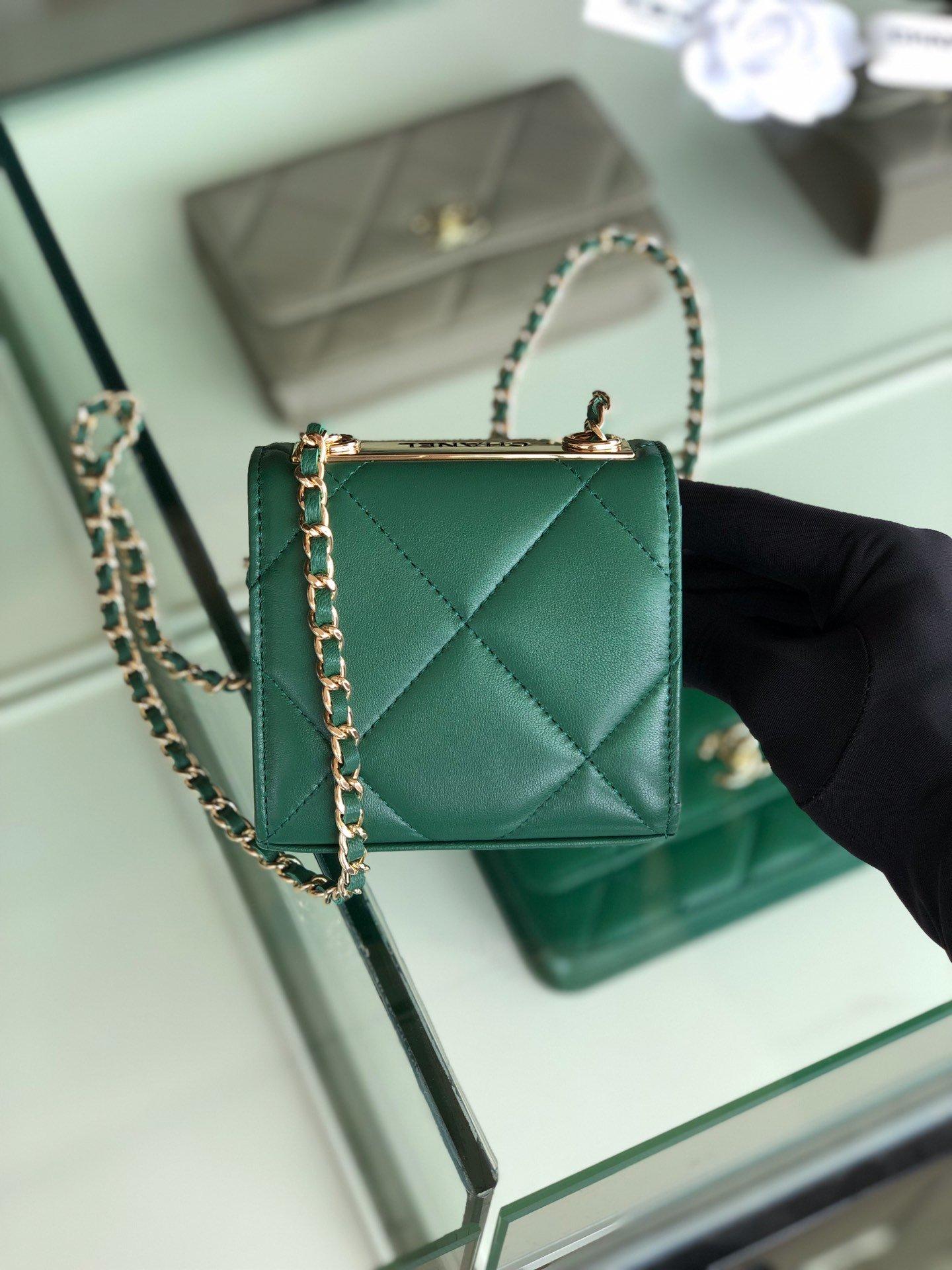 Chanel香奈儿专柜同款 大方格新款零钱包 单肩斜挎(图2)