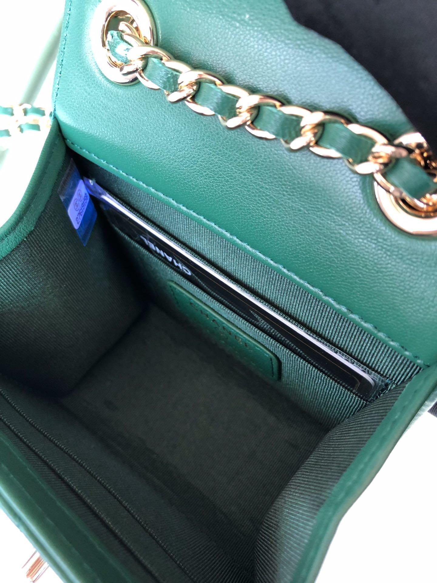 Chanel香奈儿专柜同款 大方格新款零钱包 单肩斜挎(图9)