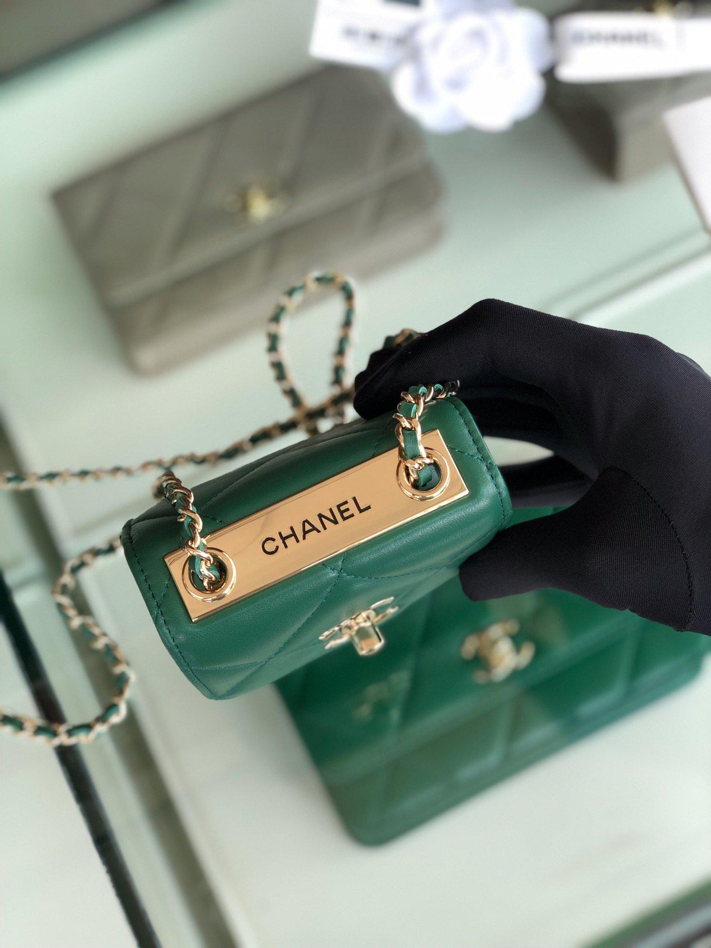 Chanel香奈儿专柜同款 大方格新款零钱包 单肩斜挎(图5)