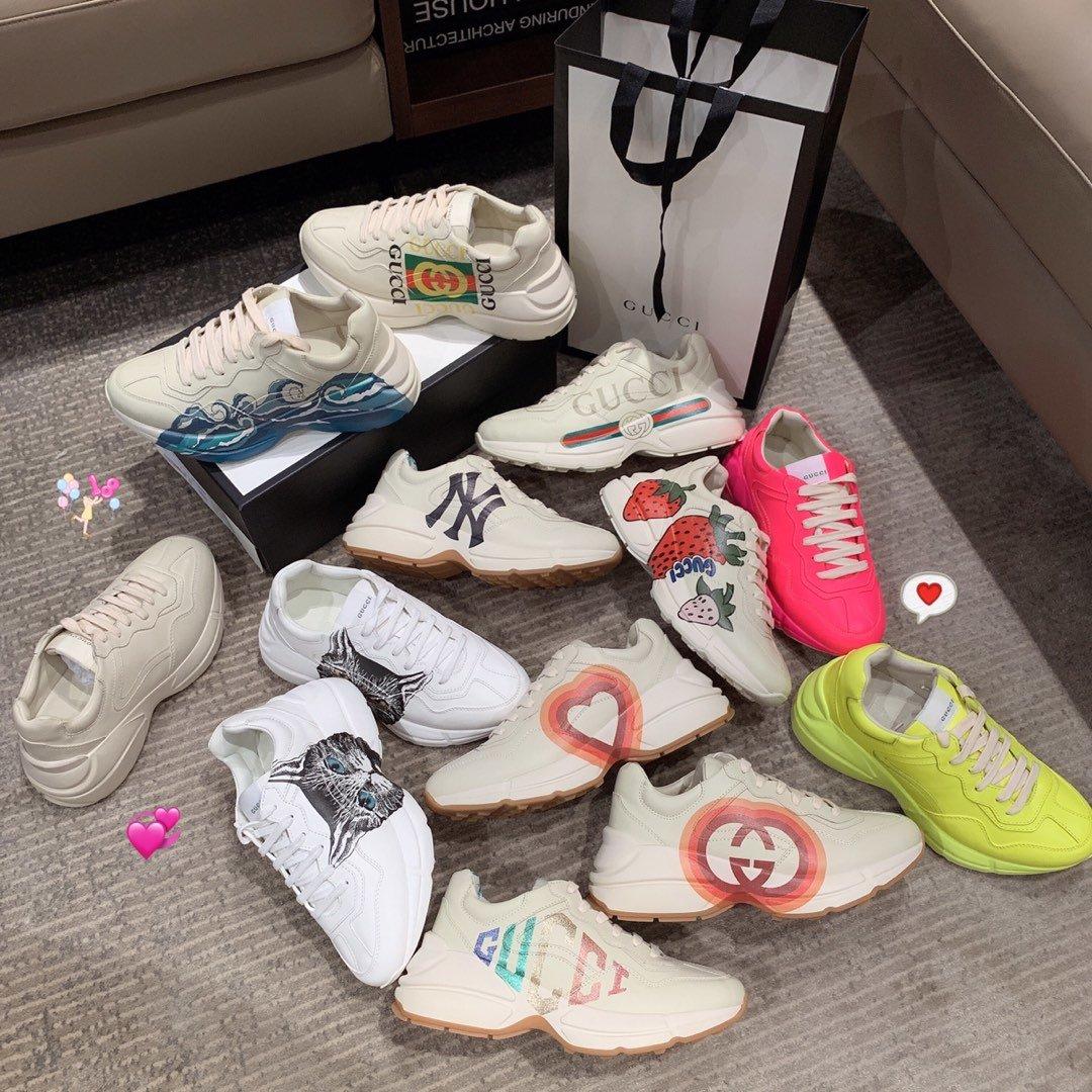 Gucci全新升级 小脏鞋时尚休闲老爹鞋男女款专柜同款(图5)