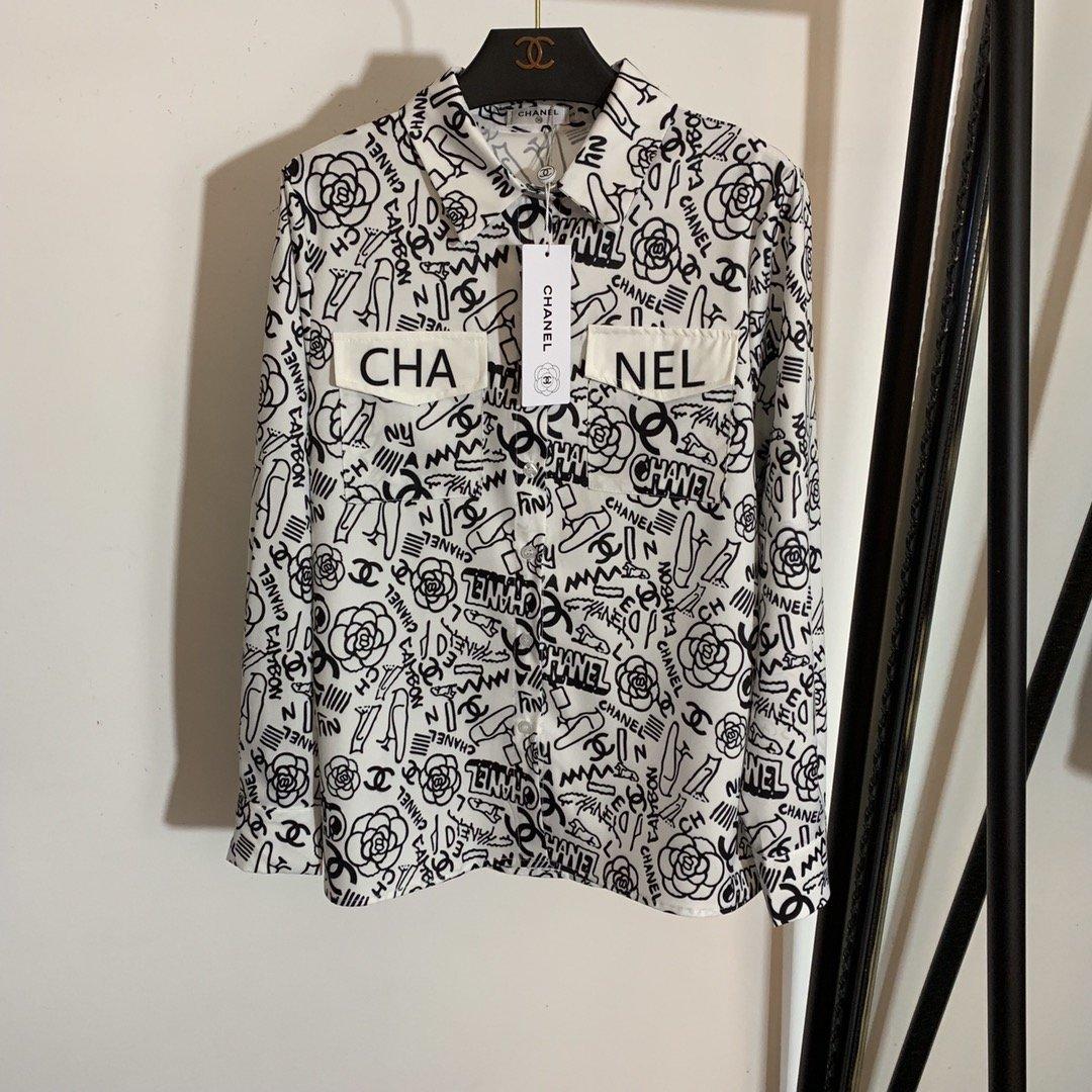 Chanel新款小香风山茶花字母印花