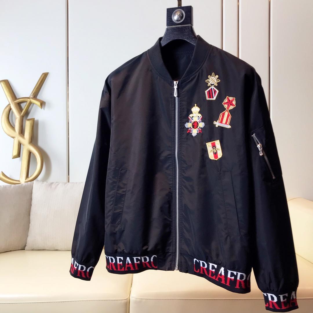 潮款重工刺绣Dolce&Gabban