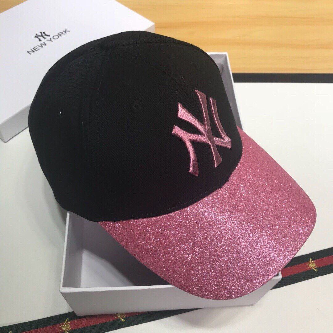 NY原单棒球帽进口刺绣烫钻质量杠杠的
