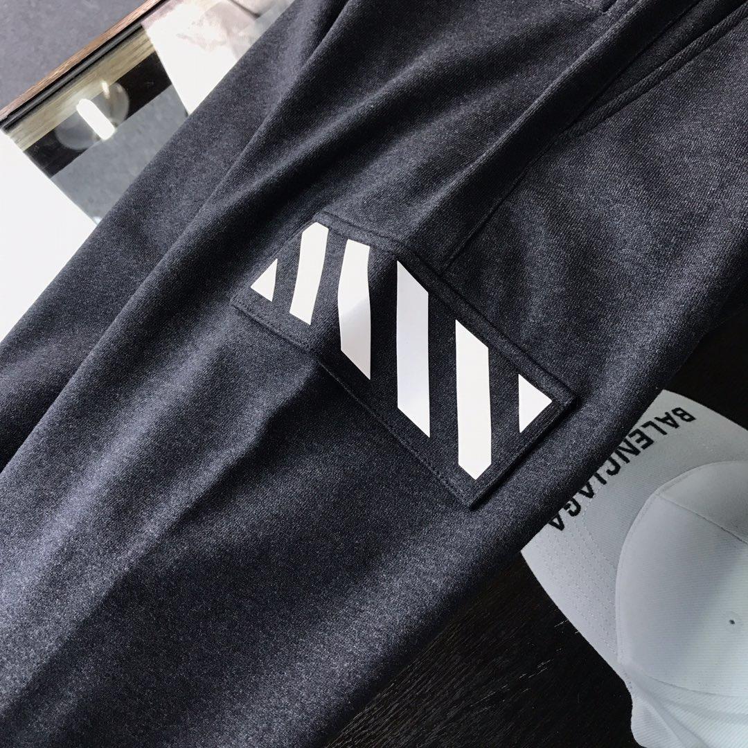 OFF经典logo印花休闲卫裤定制原