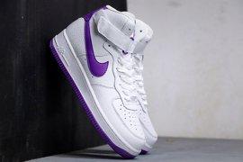 200BXZ公司级 耐克 Nike AIR Force 1 High White Purple 白紫 空军一号高帮系列潮流休闲板鞋不仅有着极为讨好的配色方案凸显出格调十足的气质 而高帮的设计更是为符合四季而精心打造的官方货号AT7653100PCSIZE36 365 375 38 385 39 40 405 41 42 425 43 44 445 4