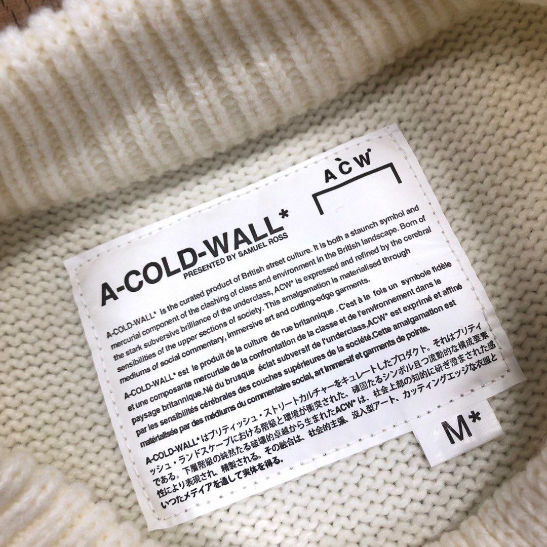 💰250元  A-COLD-WALL 20ss走秀款圆领简约毛衣 膨体晴纶纱线 独家定制染色洗水工艺  经典脚印小LOGO 完美演绎 薄厚适中 搭配衬衫 单穿都可以 男女老少均可驾驭 尺码:S M L XL。白色/深灰   oversize版型 。