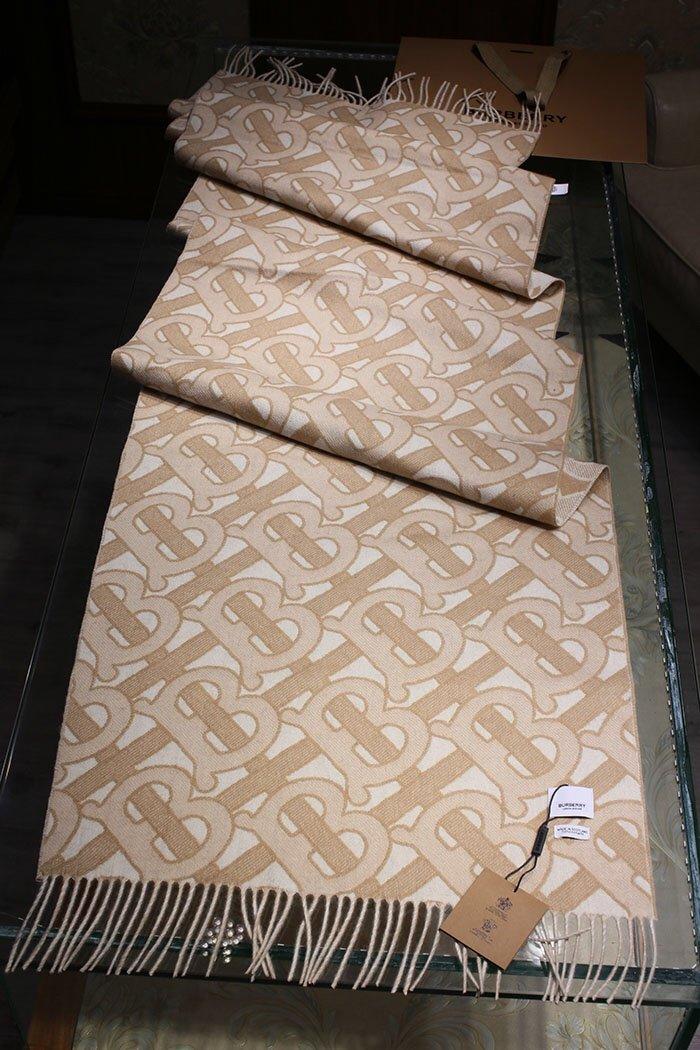TB双层提花羊绒杏色正经八百的高品质