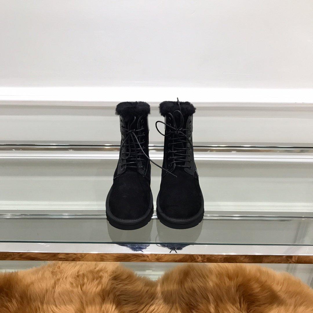 UGG高端秋冬款女士中筒马丁靴进口磨