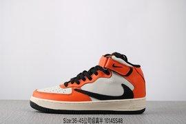 240公司级真标半码耐克 Nike Air FORCE 1 MId07 空军一号 潮流时尚百搭板鞋 Size3645 编码1014SS4