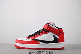 集图240公司级真标半码耐克 Nike Air FORCE 1 MId07 空军一号 潮流时尚百搭板鞋 编码1014SS4