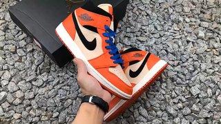 Air Jordan AJ1 Mid OrangeBlack 小白扣碎七龙珠 小悟空 货号852542 80