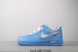 140真标半码耐克 Nike AIR Force 1 07 OFF WHITE 空军一号 潮流时尚板鞋Size3645 编码1015SS2