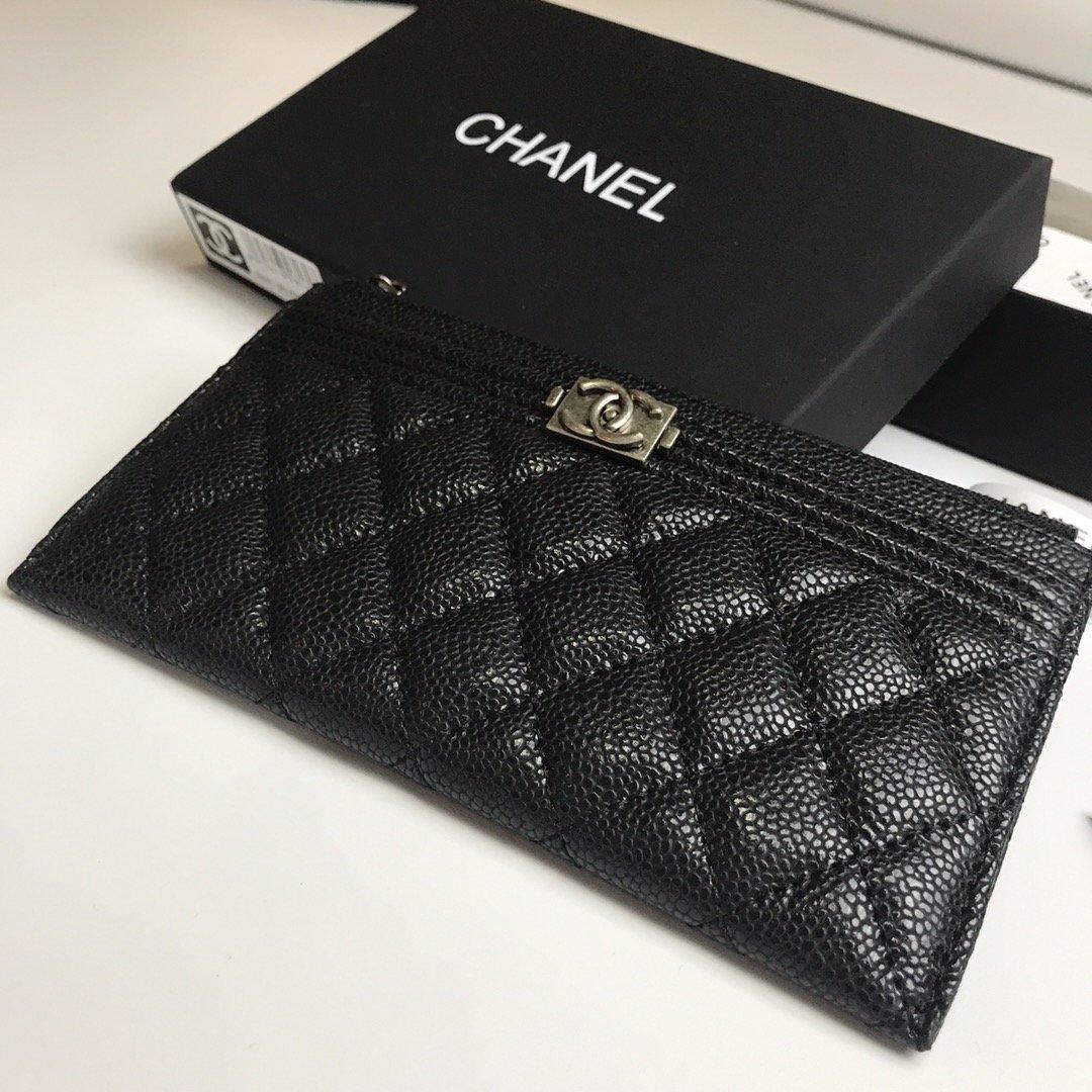Chanel香奈儿钱包全皮 专柜款式(图5)