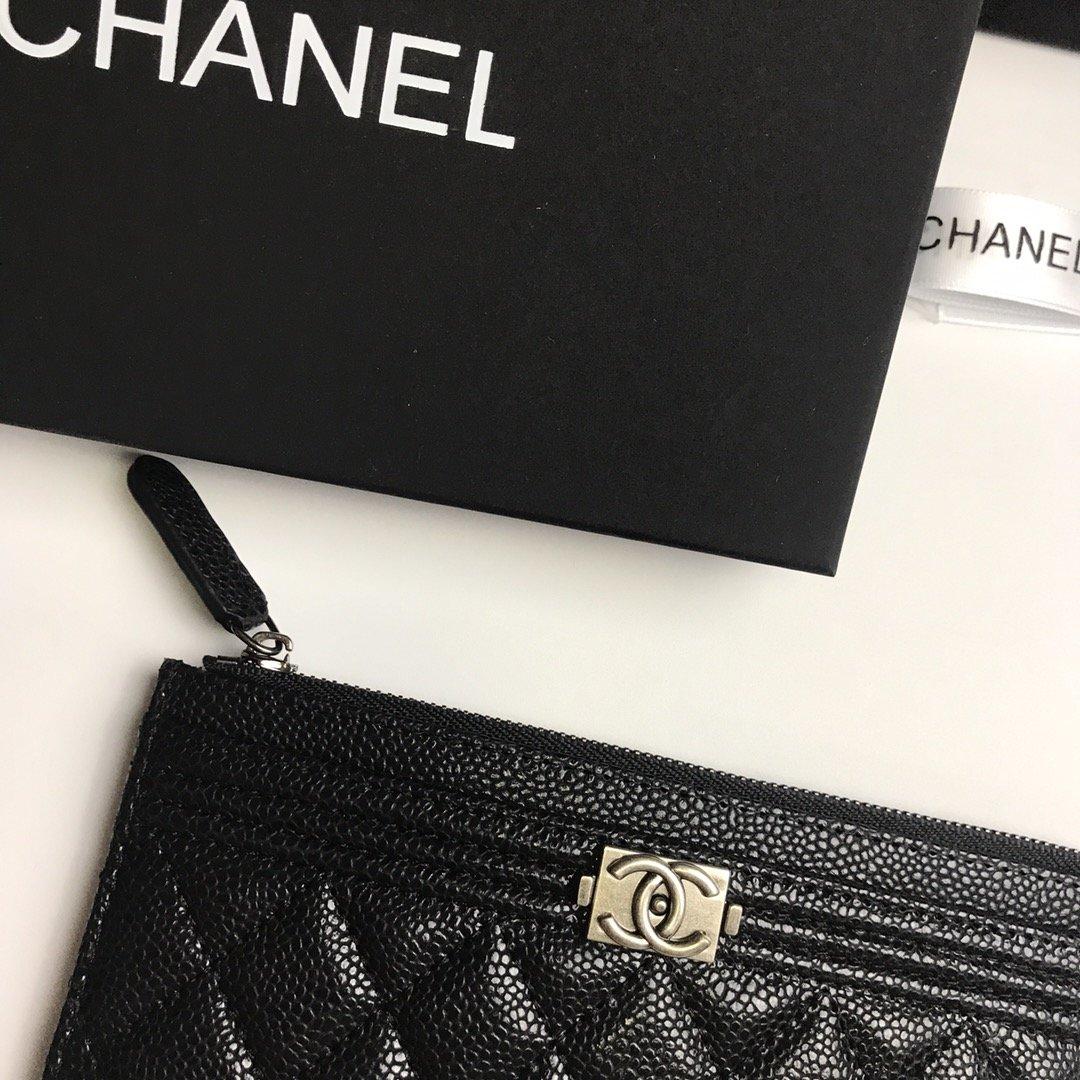 Chanel香奈儿钱包全皮 专柜款式(图8)