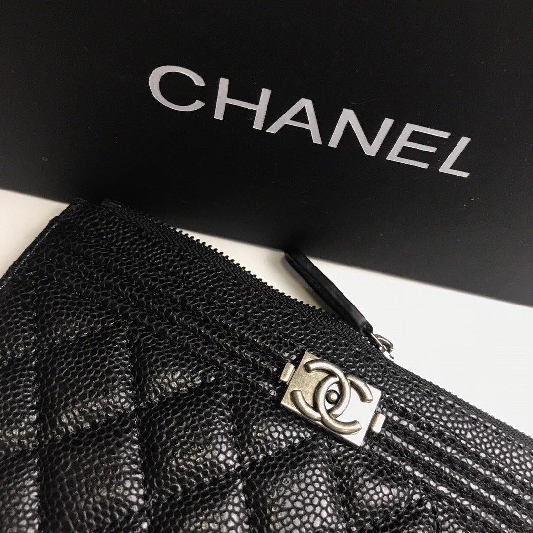 Chanel香奈儿钱包全皮 专柜款式(图4)