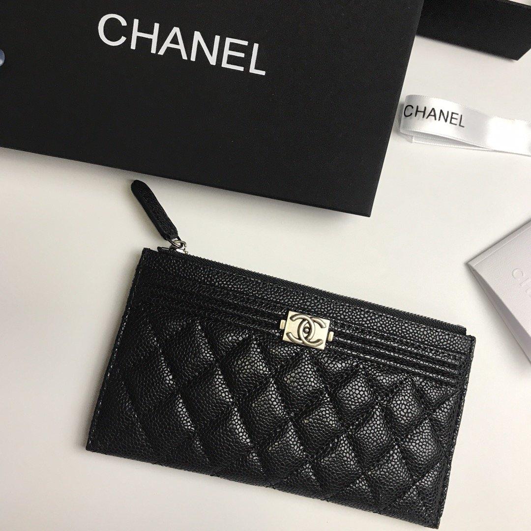 Chanel香奈儿钱包全皮 专柜款式(图7)