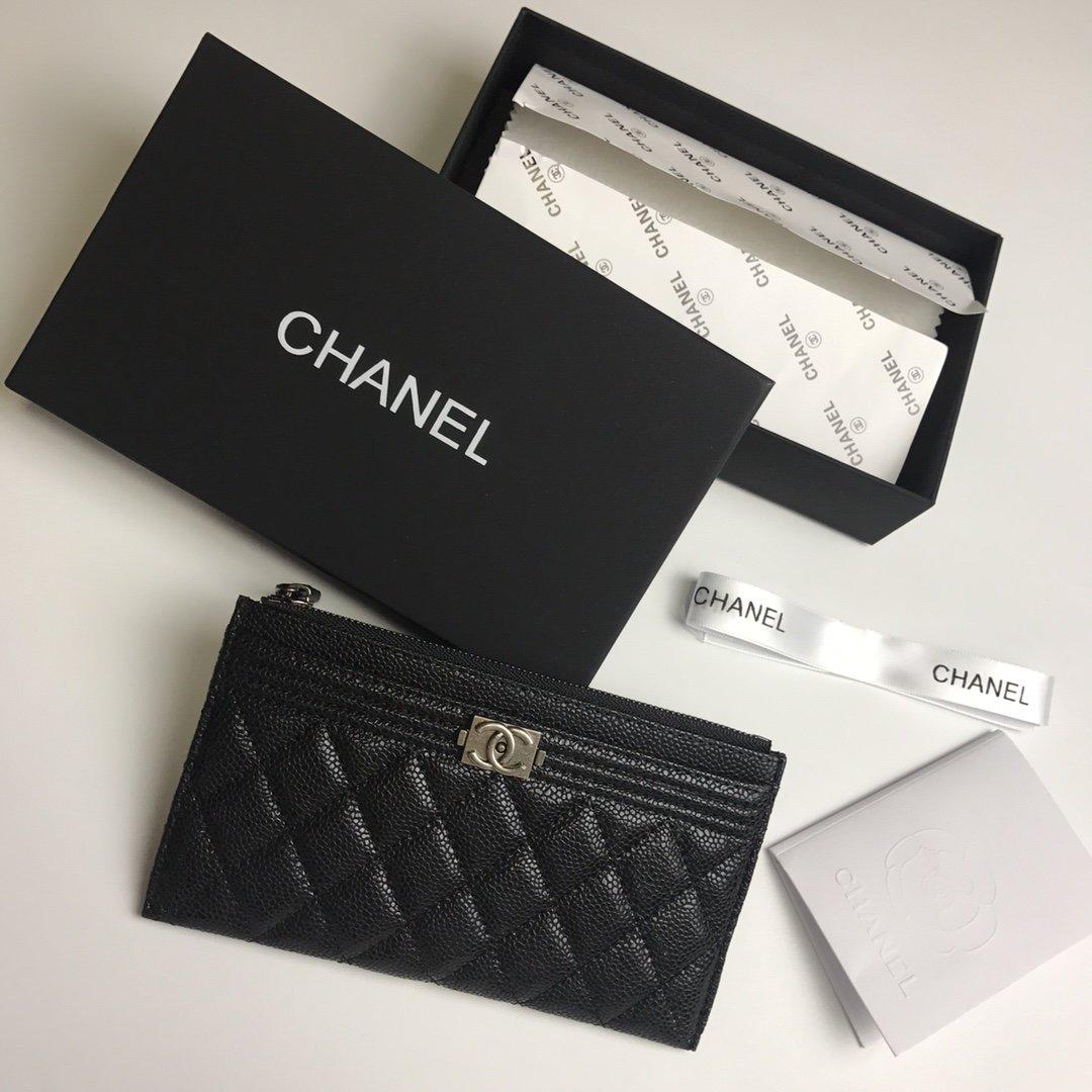 Chanel香奈儿钱包全皮 专柜款式(图6)
