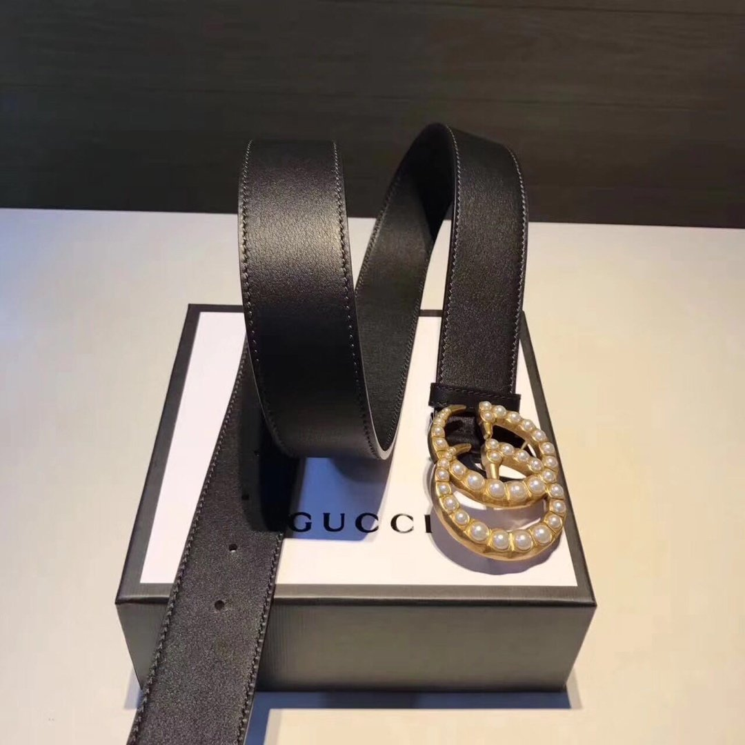 Gucci古奇经典款女款皮带 女士腰带(图1)