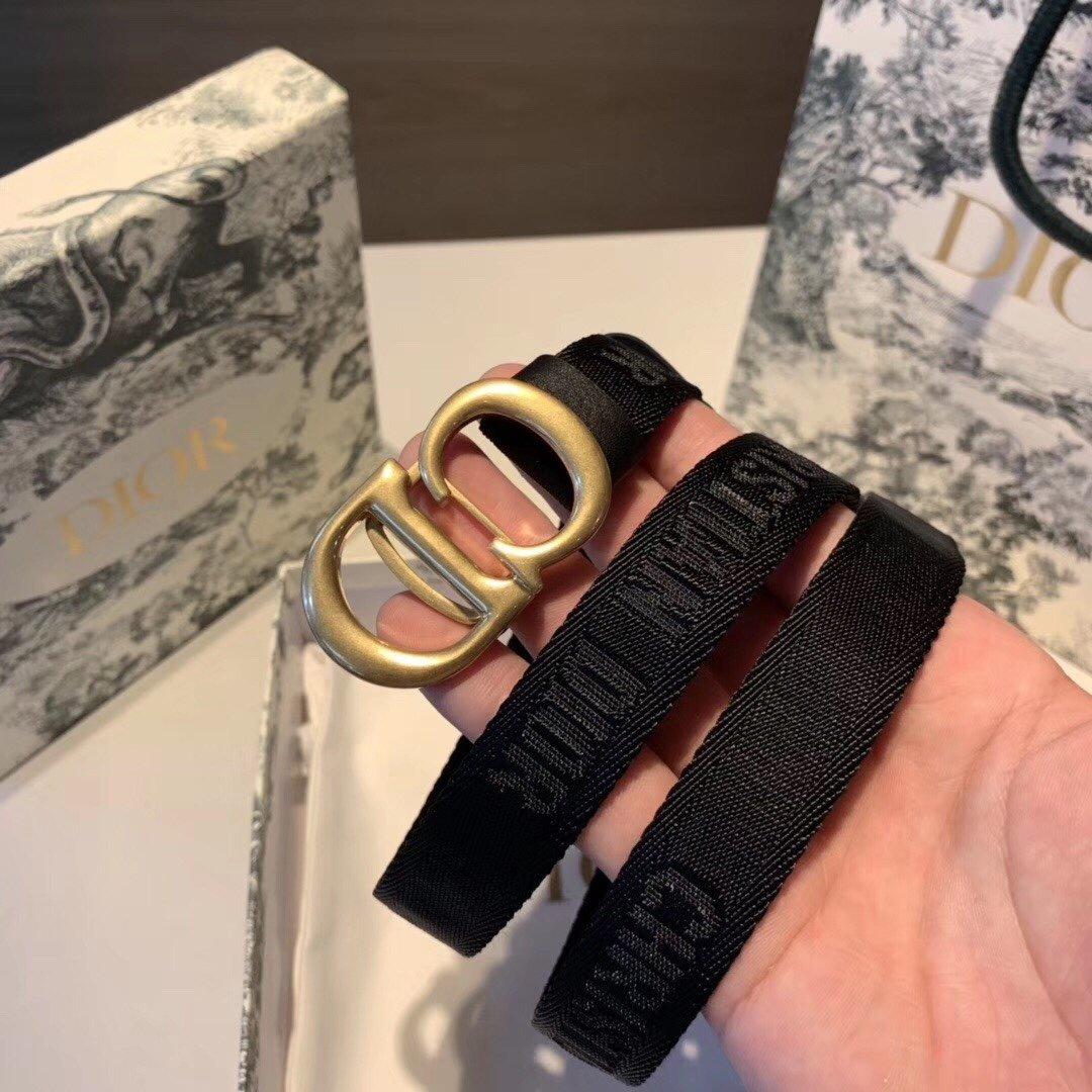 Dior迪奥新款女士腰带百搭休闲涤纶 织带 /牛皮(图4)
