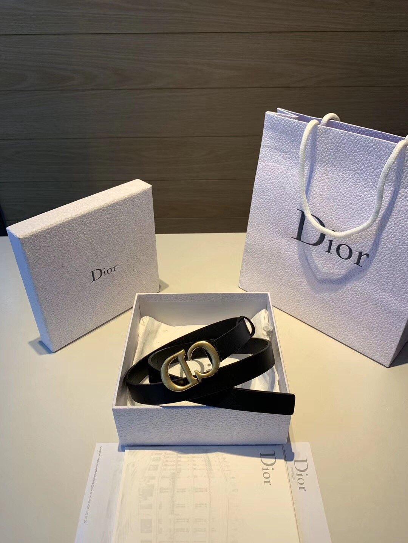 Dior迪奥新款女士腰带百搭休闲涤纶 织带 /牛皮(图9)