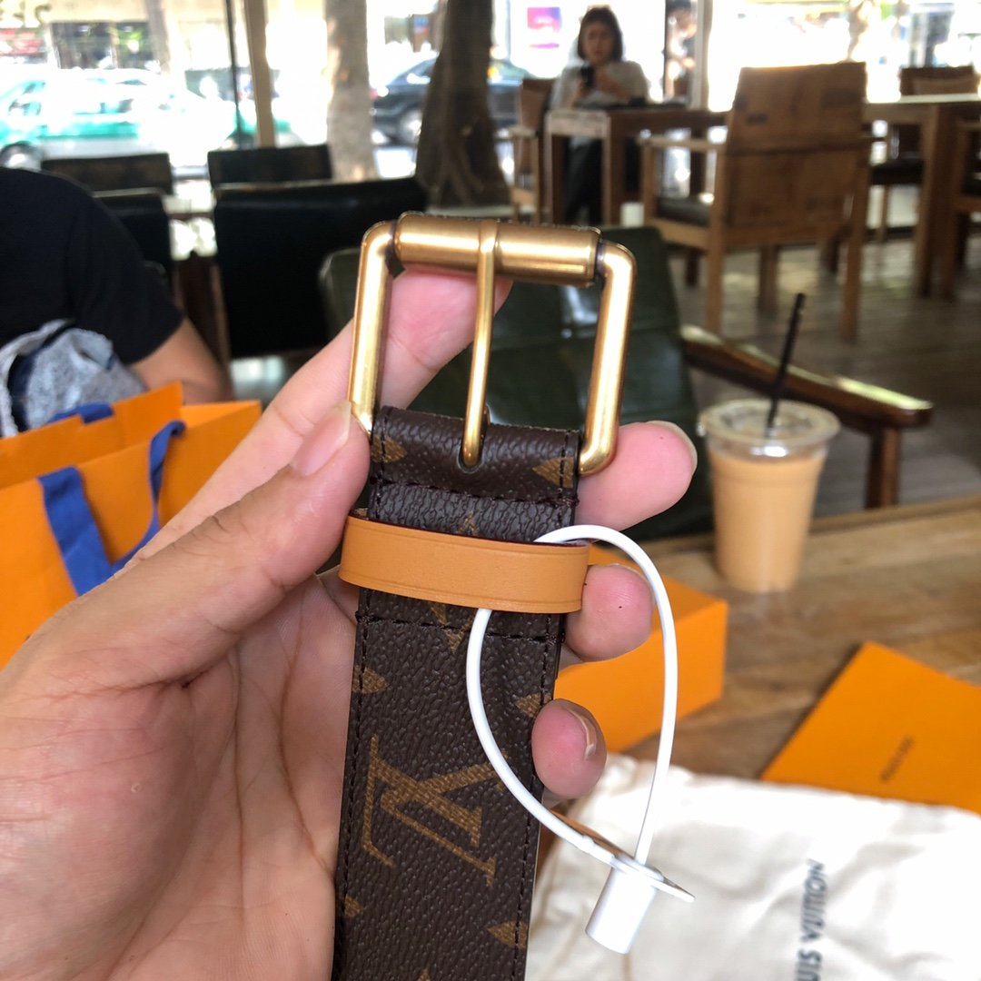 Louis  Vuitton独家免税店渠道货路易 老花系列 腰带(图8)