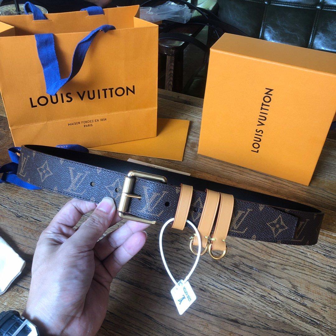 Louis  Vuitton独家免税店渠道货路易 老花系列 腰带(图9)