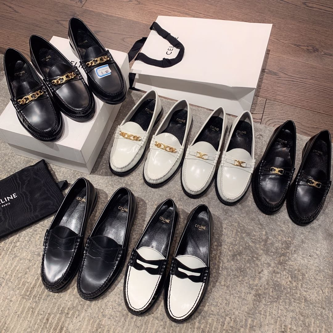 celine2019早秋专柜新款乐福鞋(图5)